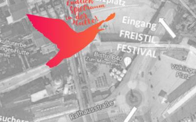 """FREISTIL_FESTIVAL: Wegeplan zum Veranstaltungsort """"Erzhalle"""""""